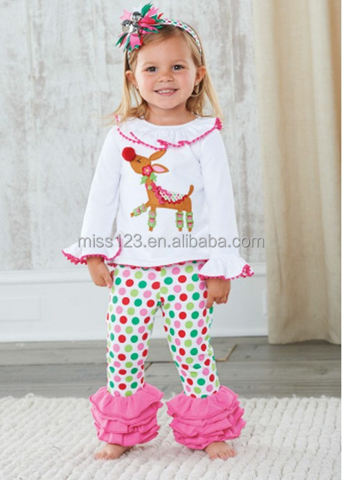 Children s christmas dress kids christmas clothing sets baby holiday