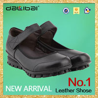 top sell elegant brand 2013 2014 new style flat leather girls casual shoes