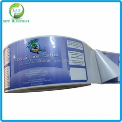 Custom high quality printed outdoor use UV resistant self adhesive vinyl labels