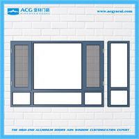 Hot sales luxury soundproof casement windows with aluminum