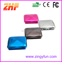 Easy carry portable diamond power bank 6600mah,famous brand mobile power bank