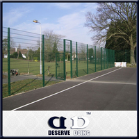 PVC painting rigid iron wire woven parking lot mesh fence panel