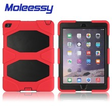 with screen protector case For iPad air2 , Shockproof Silicon Heavy Duty Silicon Case for iPad air,work case