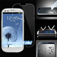 Promotion !!! 0.33mm Anti Shock 2.5D Round Edge 9h Hardness Privacy Tempered Glass Screen Protector for Samsung Galaxy S4 Mini