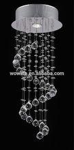 de alta calidad de la ronda de aceroinoxidable lámpara de araña de cristal para comedor