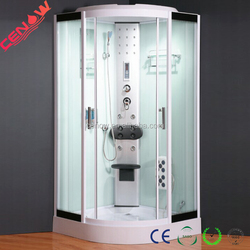 white painted glass shower house CW-657