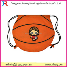 Fashion basketball drawstring backpacks,Athletic Drawstring Bag/Mini Backpack for kids school book packing