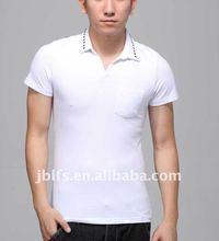 mens fashion slim fit hit nail polo shirt