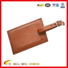 Newest Design Cheap Wholesale Leather Luggage Tag, Genuine Leather Suitcase Luggage Tag for Promotional