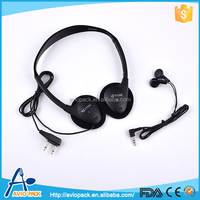 Good quality PP plastic travel phone headset for airplane