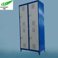 4 door clothing storage metal foot locker/steel student foot steel locker/high quality lockable foot locker