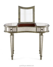 modern bedroom girl's makeup antique vanity mirrored dressing table