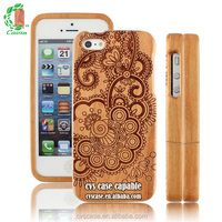 New Design Cherry Wood Phone Cover Phone Accessories Case For Iphone 5.