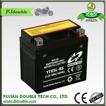 high quality sealed MF Rechargeable motorcycle battery 12v 5ah lead acid battery