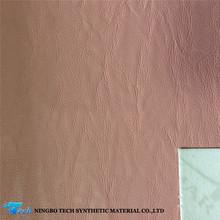 Pu impreso cuero sintético para hacer la guarnición del zapato ( piel )