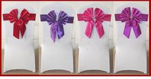 cheap wedding chair covers,wedding/hotel/banquet use satin sash wedding chair cover at factory price
