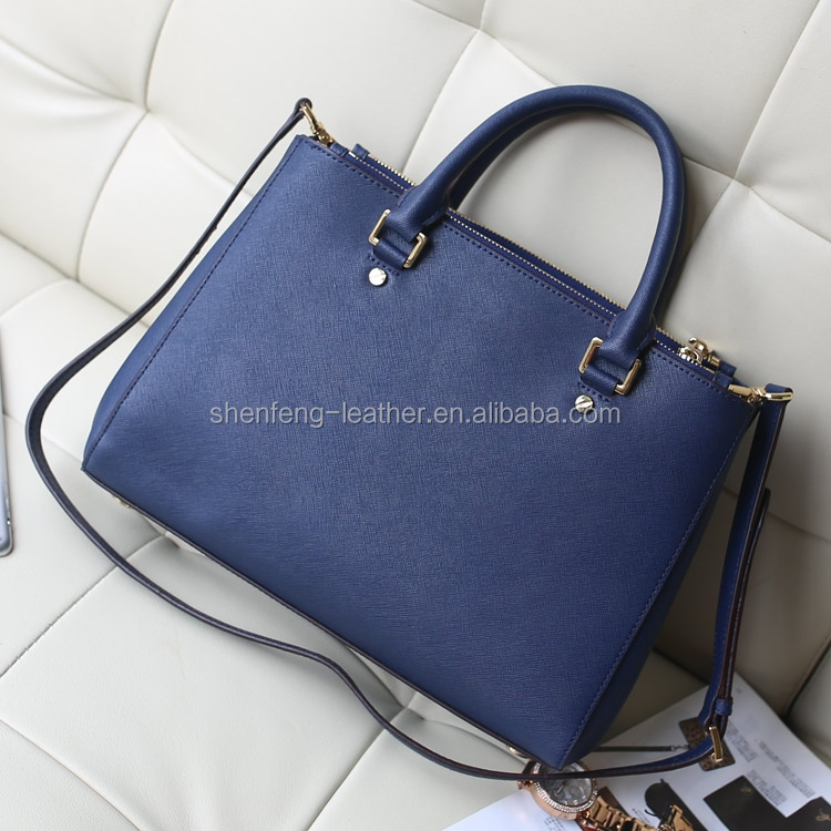 2016 New Saffiano Cross Pattern Synthetic PU leather for Prada ...