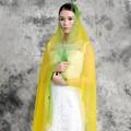 卸売ヒジャーブソリッドカラーヘッドスカーフ女性はイスラム教のシルクロングスカーフ広州