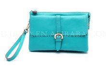 BELLUCY colorful ranbow real leather clutch bag
