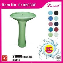 Alibaba china hot selling colored art pedestal basins
