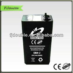 best price 4v 2ah small size sla battery, heavy duty battery with good quality