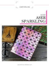 Elegant laser rhinestone case for iPad with aser sparkling
