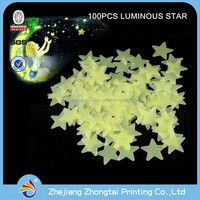 luminous star, glow in the dark star wall sticker for kids room decoration