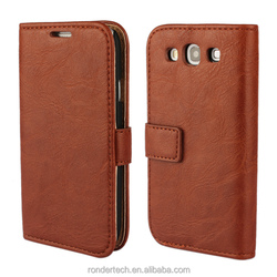 High Quality Tree Bark pattern flip leather cheap mobile phone cases for Samsung Galaxy S3 i9300
