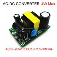 Super Mini High quality AC 110V 220V to 3.3V 3.5V LED regulator module 5V 600mA 700mA (3W) switching power supply module