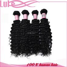 100% Human Remy Hair Extension Virgin Hair Bundles Peruvian Jerry Curl Hair