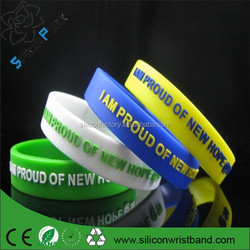 Customized memorial silicone wristband Manufacturers egypt rubber wrist bracelets en silicone