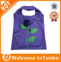 Best selling eco bags fashion rose flower folding packing bag