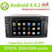 Android 4.4 for TOYOTA corolla universal CAR DVD BLUETOOTH TV GPS NAVIGATION IPOD 3G/WIFI PLAYER