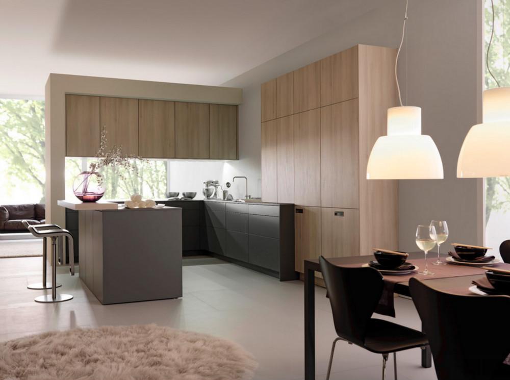 armadi da cucina di design modulare mobile da cucina con tolix sgabello da bar