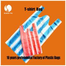 China manufacturer PE cheap T-shirt plastic bag
