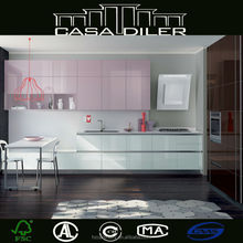 High Gloss Finished Ready Made Kitchen Cabinets Discounted