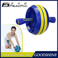 Feva Roller-Hot Sale Colored Stylish Length 32cm Silicon Handle Adjustable Double Roller Ab Workout