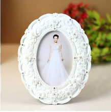 Hot sales resin photo picture frame white vintage wedding photo frame