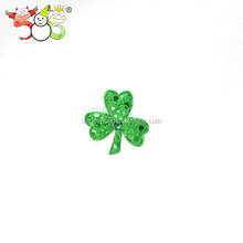 ST Patrick's day fancy shamrock green fashion three leaf clover hair clip