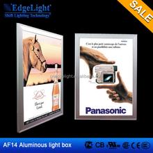 Top quality Customized aluminum frame led backlit light box for subway advertising