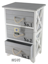 NEW Hot Recycled Vintage Grey 3 Drawer Storage Cabinet Modern Design