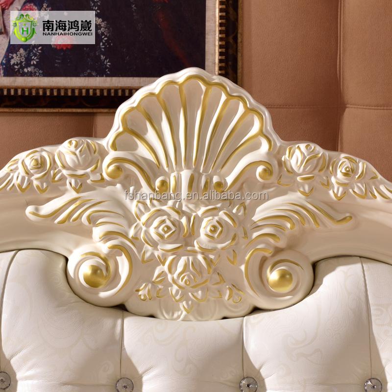 europea real francs madera tallada cama muebles de dormitorio conjunto