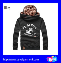 Hot selling mens custom printed logo fleece pullover hoodie printed design 2015