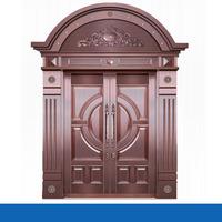 Modern arch shaped frame main copper door design