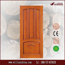 simple diseño de la puerta de entrada de madera maciza puerta del panel precio