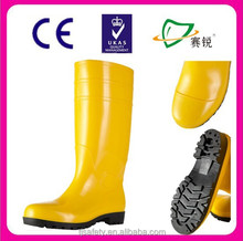 PVC gumboots yellow wellies safety boots working boots JW-211