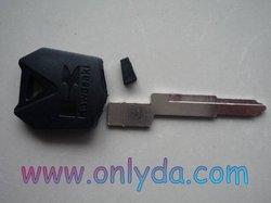 motorcycle Ducati motor key blank (black color)