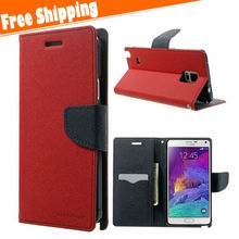 Luxury Case Cover Leather Flip Wallet Stand For Samsung Galaxy Note 4 N910