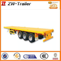 2015 new hot sale 20ft container semi trailer, 40ft flatbed container semi-trailer