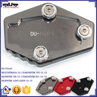 BJ-SSE-DU001 New Arrival CNC Aluminum Anodized Motorcycle Side Stand Support Plate for Ducati MONSTER 796 / MONSTER 821